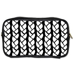 Ropes White Black Line Toiletries Bags 2 Side by Mariart