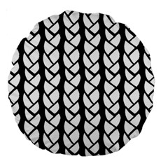 Ropes White Black Line Large 18  Premium Round Cushions by Mariart