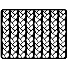 Ropes White Black Line Double Sided Fleece Blanket (large)  by Mariart