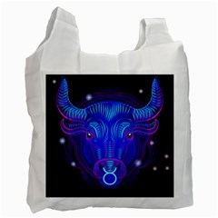 Sign Taurus Zodiac Recycle Bag (two Side)  by Mariart