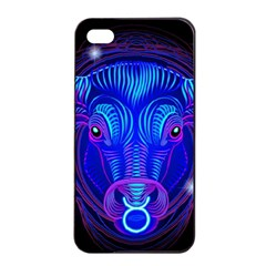 Sign Taurus Zodiac Apple Iphone 4/4s Seamless Case (black) by Mariart