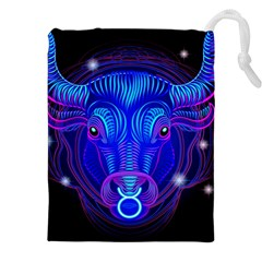 Sign Taurus Zodiac Drawstring Pouches (xxl) by Mariart