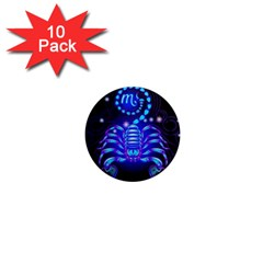 Sign Scorpio Zodiac 1  Mini Magnet (10 Pack)  by Mariart