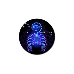Sign Scorpio Zodiac Golf Ball Marker by Mariart