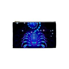 Sign Scorpio Zodiac Cosmetic Bag (small)  by Mariart