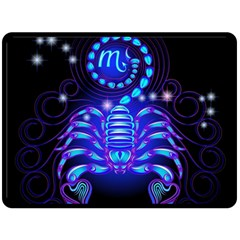 Sign Scorpio Zodiac Double Sided Fleece Blanket (large)  by Mariart