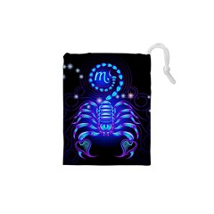 Sign Scorpio Zodiac Drawstring Pouches (xs)  by Mariart