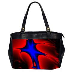 Space Red Blue Black Line Light Office Handbags (2 Sides)  by Mariart