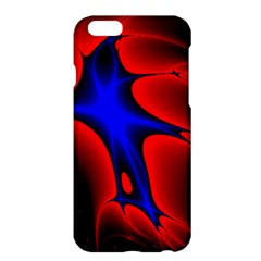 Space Red Blue Black Line Light Apple Iphone 6 Plus/6s Plus Hardshell Case by Mariart