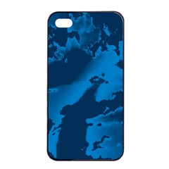 Sky Apple Iphone 4/4s Seamless Case (black) by ValentinaDesign