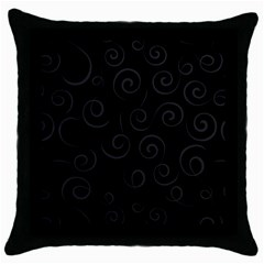 Pattern Throw Pillow Case (black) by ValentinaDesign