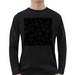 Pattern Long Sleeve Dark T Shirts