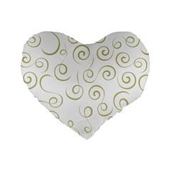 Pattern Standard 16  Premium Flano Heart Shape Cushions by ValentinaDesign