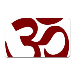 Hindu Om Symbol (dark Red) Magnet (rectangular) by abbeyz71