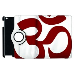Hindu Om Symbol (dark Red) Apple Ipad 3/4 Flip 360 Case by abbeyz71