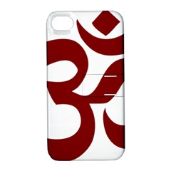 Hindu Om Symbol (dark Red) Apple Iphone 4/4s Hardshell Case With Stand by abbeyz71