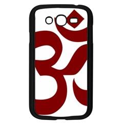 Hindu Om Symbol (dark Red) Samsung Galaxy Grand Duos I9082 Case (black) by abbeyz71