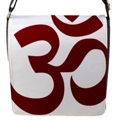 Hindu Om Symbol (dark Red) Flap Messenger Bag (s) by abbeyz71