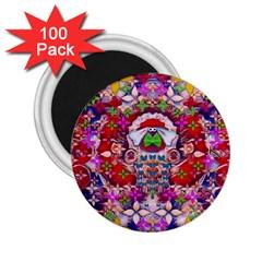 Hawaiian Poi Cartoon Dog 2 25  Magnets (100 Pack)  by pepitasart