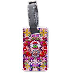 Hawaiian Poi Cartoon Dog Luggage Tags (one Side)  by pepitasart