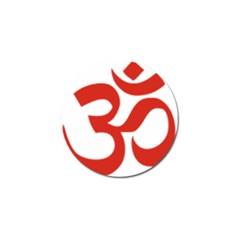 Hindu Om Symbol (red) Golf Ball Marker (4 Pack) by abbeyz71