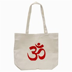 Hindu Om Symbol (red) Tote Bag (cream) by abbeyz71