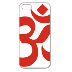 Hindu Om Symbol (red) Apple Seamless Iphone 5 Case (clear) by abbeyz71