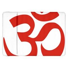 Hindu Om Symbol (red) Samsung Galaxy Tab 8 9  P7300 Flip Case by abbeyz71