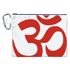 Hindu Om Symbol (red) Canvas Cosmetic Bag (xxl) by abbeyz71