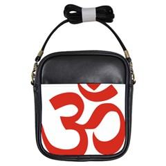 Hindu Om Symbol (red) Girls Sling Bags by abbeyz71
