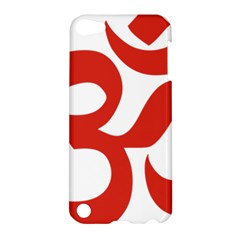Hindu Om Symbol (red) Apple Ipod Touch 5 Hardshell Case by abbeyz71