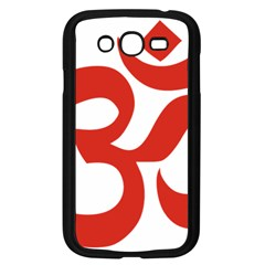 Hindu Om Symbol (red) Samsung Galaxy Grand Duos I9082 Case (black) by abbeyz71