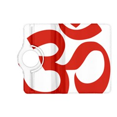 Hindu Om Symbol (red) Kindle Fire Hd (2013) Flip 360 Case by abbeyz71