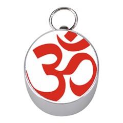 Hindu Om Symbol (red) Mini Silver Compasses by abbeyz71