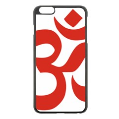 Hindu Om Symbol (red) Apple Iphone 6 Plus/6s Plus Black Enamel Case by abbeyz71