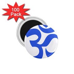 Hindu Om Symbol (royal Blue) 1 75  Magnets (100 Pack)  by abbeyz71