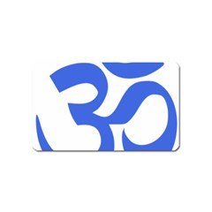Hindu Om Symbol (royal Blue) Magnet (name Card) by abbeyz71