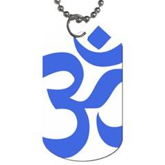Hindu Om Symbol (royal Blue) Dog Tag (one Side) by abbeyz71