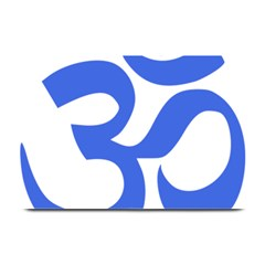 Hindu Om Symbol (royal Blue) Plate Mats by abbeyz71