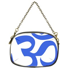 Hindu Om Symbol (royal Blue) Chain Purses (one Side)  by abbeyz71