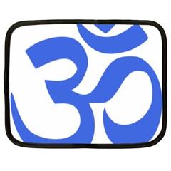 Hindu Om Symbol (royal Blue) Netbook Case (xxl)  by abbeyz71