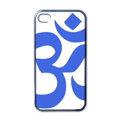 Hindu Om Symbol (royal Blue) Apple Iphone 4 Case (black) by abbeyz71