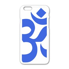 Hindu Om Symbol (royal Blue) Apple Iphone 6/6s White Enamel Case by abbeyz71