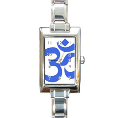 Hindu Om Symbol (royal Blue) Rectangle Italian Charm Watch by abbeyz71