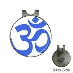 Hindu Om Symbol (royal Blue) Hat Clips With Golf Markers by abbeyz71
