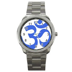 Hindu Om Symbol (royal Blue) Sport Metal Watch by abbeyz71