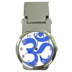 Hindu Om Symbol (royal Blue) Money Clip Watches by abbeyz71
