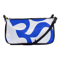 Hindu Om Symbol (royal Blue) Shoulder Clutch Bags by abbeyz71