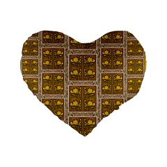 Pasta Con Fish Al Diente Standard 16  Premium Heart Shape Cushions by pepitasart