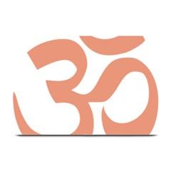 Hindu Om Symbol (salmon) Plate Mats by abbeyz71